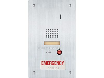 Aiphone IS-SS-RA Stainless Steel Flush Mount Audio Door Station with Emergency Call Button IS-SS-RA by Aiphone