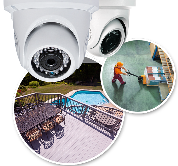 2 camera complete surveillance system
